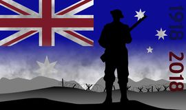 Commemoration of the centenary of the great war, ANZAC Stock Photography