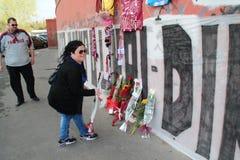 commemorationfotbolllivorno morosini Royaltyfria Foton