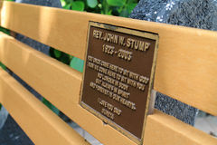 Commemorative bench Royalty Free Stock Images