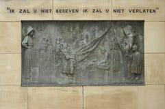 Commemorative bronze plaque 2 Royalty Free Stock Images