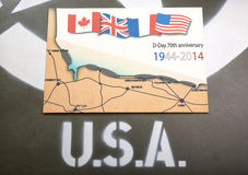 Commemorative card of D-Day Stock Photos