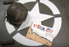 Commemorative card of D-Day o Royalty Free Stock Photo