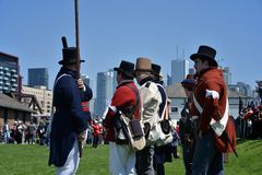 Commemorative ceremonies at Fort York Royalty Free Stock Image