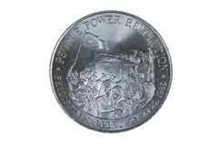 Commemorative coin featuring the People Power revolution Stock Photography