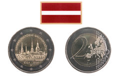 Commemorative coin of Latvia Royalty Free Stock Image
