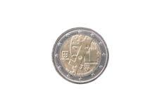 Commemorative coin of Portugal Stock Photo