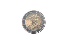 Commemorative coin of Slovenia Royalty Free Stock Photography