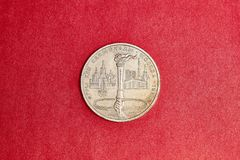 Commemorative coin USSR one rubles in memory of the 1980 Olympic games in Moscow. Commemorative coin USSR one rubles dedicated to 1980 Olympic games in Moscow Stock Images