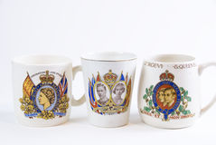 Commemorative coronation mugs Stock Images