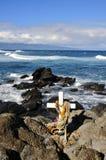 Commemorative Cross; Hookipa Royalty Free Stock Photography