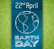 Commemorative Design for Earth Day, Vector Illustration Royalty Free Stock Photography