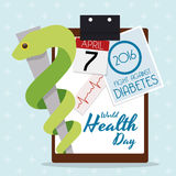 Commemorative Design for World Health Day 2016, Vector Illustration Stock Photography
