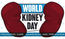Commemorative Design for World Kidney Day, Promoting Prevention and Awareness, Vector Illustration Royalty Free Stock Photos