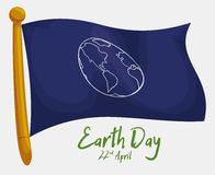 Commemorative Flag for Earth Day, Vector Illustration Royalty Free Stock Photo