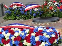 Commemorative flowers Stock Photo