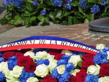 Commemorative flowers Stock Images