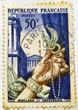 Commemorative French stamp Stock Photography