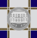 Commemorative medal architecture Stock Images