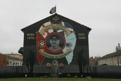 Commemorative mural of Stephen McKeag, Belfast. Stock Photography