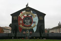 Commemorative mural of Stephen McKeag, Belfast. Royalty Free Stock Photos