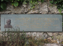 Commemorative plaque for Engineer Brunel in Bristol Royalty Free Stock Photography