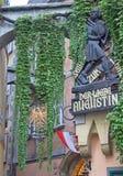 Commemorative plaque on the facade of Griechenbeisl inn in Vienna, Austria Royalty Free Stock Photo