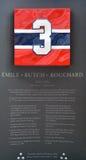 Commemorative plate 3 of Emile Alcide Butch Bouchard Stock Photos