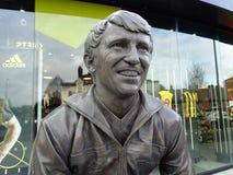 Commemorative statue of Graham Taylor OBE, former manager of Watford Football Club, Vicarage Road Stadium, Watford stock image