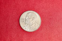 Commemorative USSR coin one ruble dedicated to Lenin. The first leader of the USSR Stock Photos