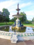 Commemorative Victorian water fountain. In Vivary Park in the town of Taunton in Somerset, England Stock Photography