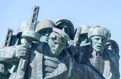 ` Commemorativo di Malaya Zemlya del ` Soldati di cavalleria 4 febbraio 1943 closeup Città dell'eroe di Novorossijsk memoria 9 ma fotografia stock libera da diritti
