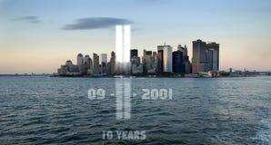 commemorazione 911 Fotografia Stock Libera da Diritti