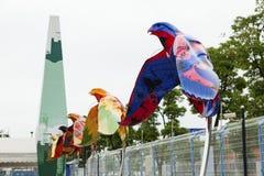 Commemorazione Exhitiion delle installazioni 2010 di esterno di Shanghai Cina dell'Expo Fotografia Stock