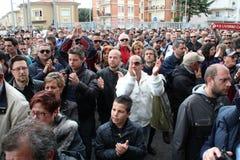 Commemorazione Morosini di gioco del calcio di Livorno Fotografia Stock