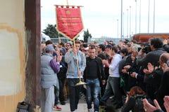 Commemorazione Morosini di gioco del calcio di Livorno Immagini Stock