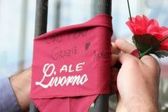 Commemorazione Morosini di gioco del calcio di Livorno Fotografie Stock
