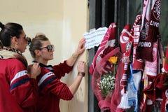 Commemorazione Morosini di gioco del calcio di Livorno Fotografie Stock Libere da Diritti