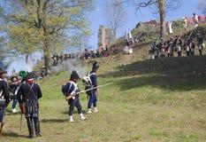 Commemorazione napoleonica di battaglia Fotografia Stock Libera da Diritti
