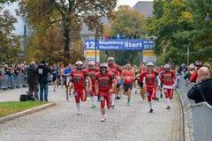 Commençant le marathon Allemagne, Magdebourg, 18 oktober 2015 Images stock