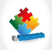 Commence business puzzle pieces concept Stock Photo