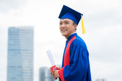 At commencement ceremony Royalty Free Stock Images