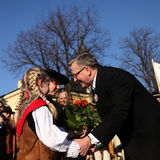 The commencement of the presidential campaign by Bronis�aw Komorowski Stock Photography
