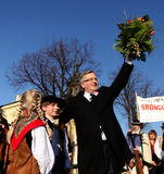 The commencement of the presidential campaign by Bronis�aw Komorowski Stock Photos