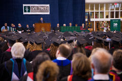 Commencement Speech by Senator Joe Donnelly Stock Images