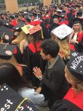 Commencement. Spring 2017 commencement at University of Wisconsin Madison Stock Photos