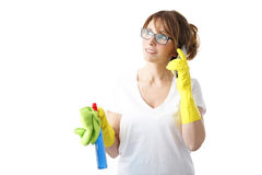 Commencer à nettoyer Photographie stock libre de droits