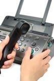 Commencer de fax photos stock