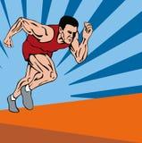 Commencer de sprinter Image stock