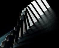 Commencer l'effet de domino Images libres de droits