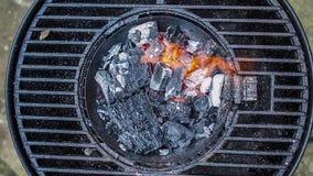 Commencer le charbon de bois banque de vidéos